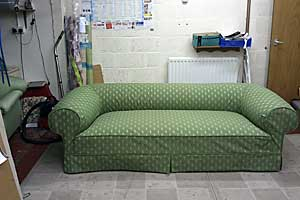 Completed Chesterfield with loose covers.